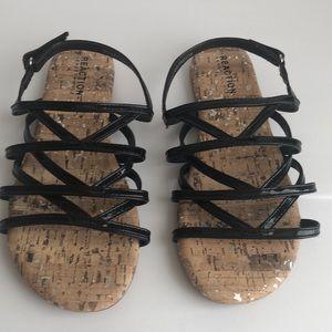 NWOT Reaction Kenneth Cole Black Sandals